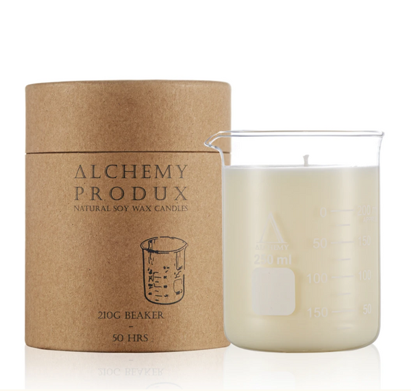 Get a whiff of this insanely yummy Australia candle! Set in a chemistry beaker, this range by Alchemy are about mixing a Science vibe with incredible scents.
