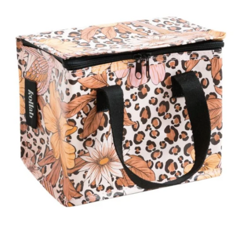 Make lunch SuperCool with this Leopard Floral Lunch Bag by Kollab.