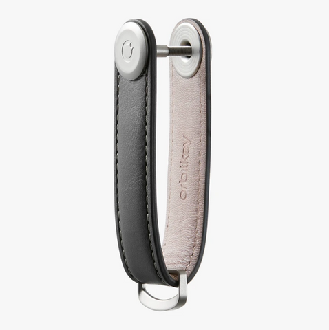 The answer to your pocket jingling woes is the Charcoal Leather Orbitkey Organiser!