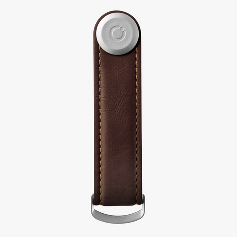 The answer to your pocket jingling woes is the Espresso Leather Orbitkey Organiser!