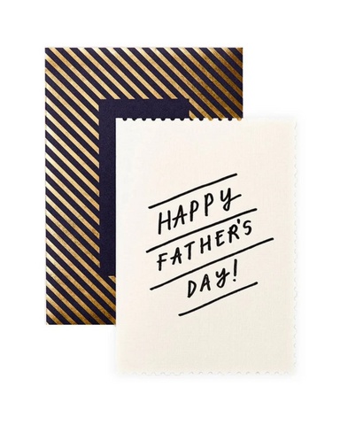 Say Happy Father's Day with this gorgeous Deco Happy Fathers Day Card from British artist Katie Leamon!