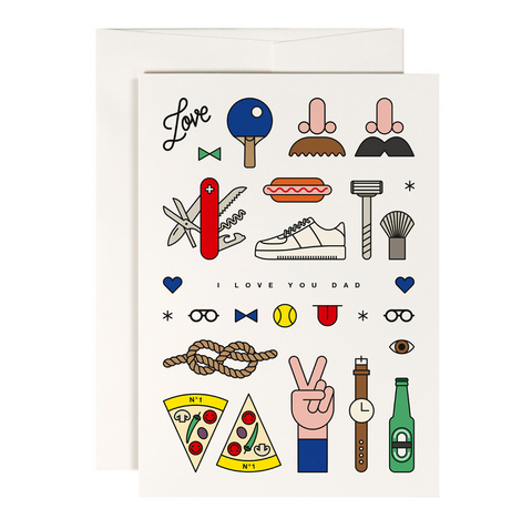 Say Happy Father's Day with this awesome I Love You Cool Dad Card from Red Fries!