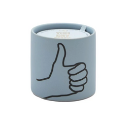 You got this! Express yourself with this Thumbs Up Hand impression candle from Paddywax.