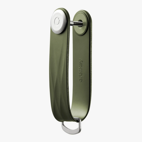 The answer to your pocket jingling woes is the Hunter Green Active Orbitkey!
