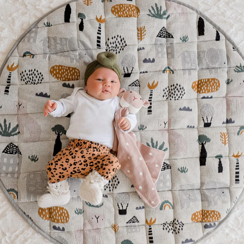The Asher Animals Playmat from DiLusso Living will be a wonderful addition to your little one's nursery!