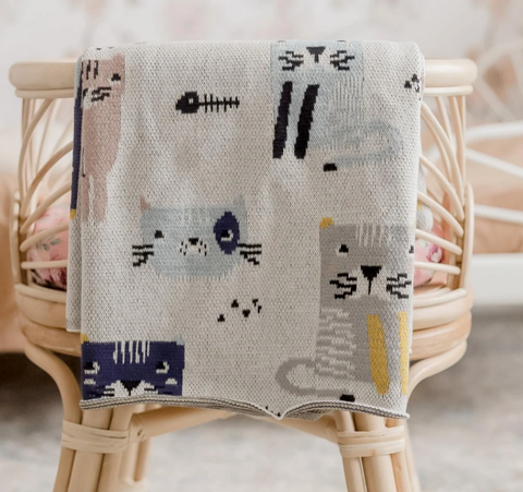 Your little one will be purring with happiness with the Kitty Kat Baby Blanket from DiLusso Living.