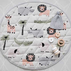 The Jungle Safari Playmat from DiLusso Living will be a wonderful addition to your little one's nursery!