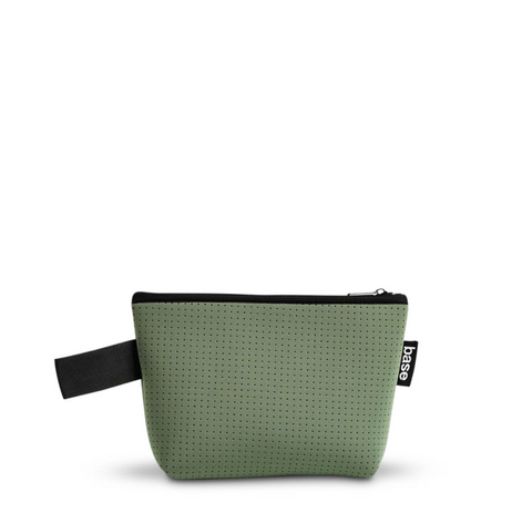 We love the SuperCool Olive Small Stash Clutch by Base Supply!  The Stash clutch is small but mighty. It fits lots, feels great to carry -- you'll wonder what you did without it!