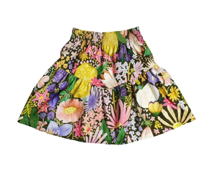 After all this time cooped up, your little lady will be ready to prance through a park in the Meadow Frill Jersey Skirt from Kip & Co!