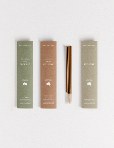 We're zenning out with the Australian Native Incense - Eucalyptus & Acacia from Addition Studios! Such a purifying scent which captures the woody earth tones of the Australian Bush.