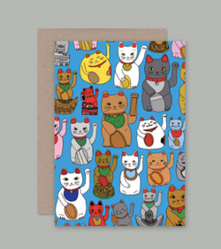The Lucky Cats card by AHD Cards, Art by The Good Type Co for AHD Paper!