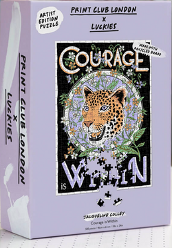 We are roaring with delight over this Courage Is Within Puzzle by Luckies!