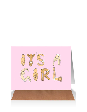 It's a Girl Yoga HT Card
