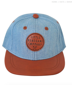 We dig this Denim Tan Cap by Little Renegade Company. Perfect for adding some all important Swag to one's outfit.  They feature a leather peak that can be worn flat or curved depending on the look you are after.