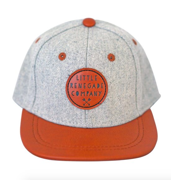 We dig this Grey Tan Cap by Little Renegade Company. Perfect for adding some all important Swag to one's outfit.  They feature a leather peak that can be worn flat or curved depending on the look you are after.