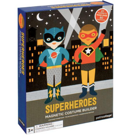 Get crafty with this Superheroes Magnetic Dress-Up game by Petit Collage!  Help these friends get ready for a superhero day.