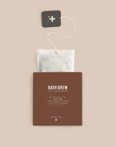 Relax and rejunvinate with the Australian Native Bath Brew by Addition Studios.  Bath Brew is a giant tea bag for the bath, used as a remedial & relaxing bath soak. Steep in this tonic and enjoy the benefits.