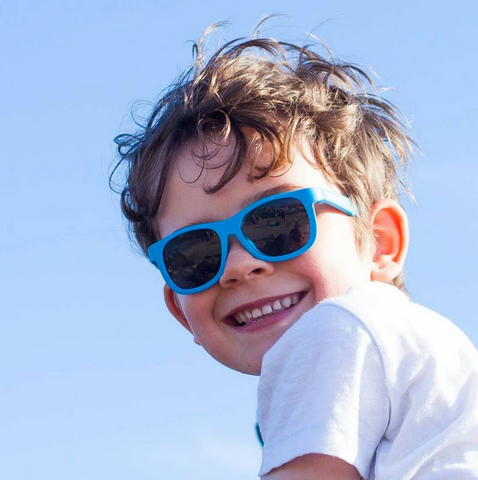We love these SuperCool Black Navigator Sunglasses!  Your little one will look SuperCool while protecting their eyes.
