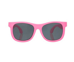 We love these SuperCool Think Pink Navigator Sunglasses!  Your little one will look SuperCool while protecting their eyes.