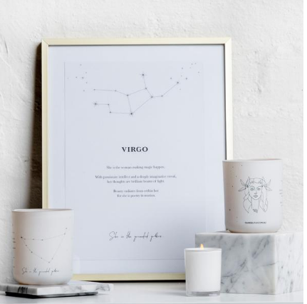We love the Virgo Zodiac Candle by Damselfly! Non-toxic soy based blush wax, hand poured in Australia