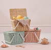 Be it for a picnic, to pack your little one's favourite crayons or a keeper of shell's collected on the beach, the Piki baskets by Olli Ella will be a firm favourite of any child; big or small.