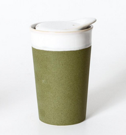 Want to save the planet but do it in style? Look no further than the Sprout Green Ceramic Coffee Cup. by Indigo Love.