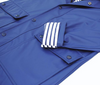 Navy Stripy Raincoat