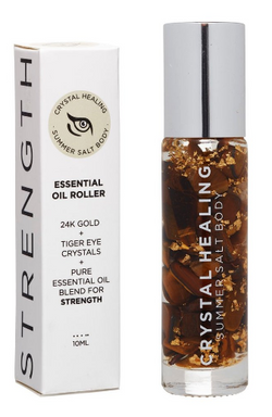 Feel your strength with this Strength Crystal Oil Roller by Summer Salt Body!  Tiger Eye infused oil with a Tiger Eye rollerball to promote strength, power, luck and inspiration.