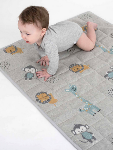 Looking for a useful but SuperCute baby present? Look no further than this Jungle Friends Play Mat by Indus!