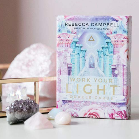 Are you ready to Work Your Light? This beautiful 44-card oracle deck has been created to help you light up the world with your presence.