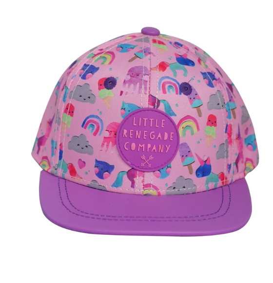 Looking for the coolest cap for summer? Look no further than the Unicorn Friends Cap by Little Renegade Company.   The Unicorn Friends Cap features the brightest colours and the cutest characters.