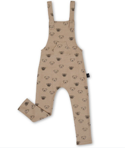 We love the SuperCool Koala Mushroom Overalls by KaPow.  A lovely neutral colour, with hand drawn koala faces illustrated by Aussie designer, Ellie Whittaker.
