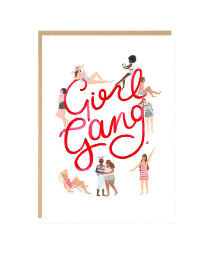 Celebrate your sisterhood with this Girl Gang Card by Jade Fisher!