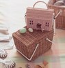 We love the SuperCute Doll Straw Casa Bag by Olli Ella.  A little house-shaped bag for kiddos on the go!