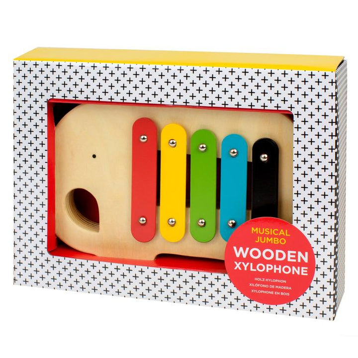 Get musical with the Elephant Wooden Xylophone from Petit Collage!
