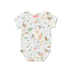 The Outback Dreamers Onesie from Halcyon Nights is full of native animals and plants.