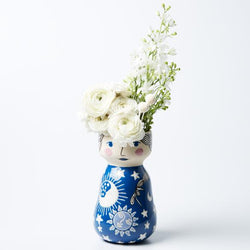 Do you wish your vases had more character?! Try this gorgeous Estee Face Vase by Jones & Co. on for size!
