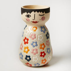 Do you wish your pots had more swag? This Billie Face Vase from Jones & Co. is for you!