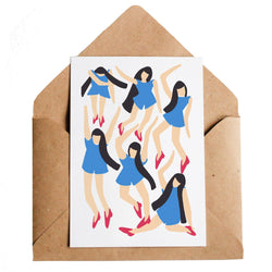 We love UK artist Lottie Hall's gorgeous Dancing Girls card and its recycled envelope!