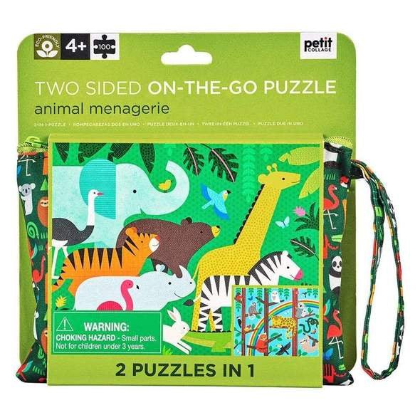 Piece together this Animal Menagerie Puzzle from Petit Collage and see how many jungle animals you can spot!