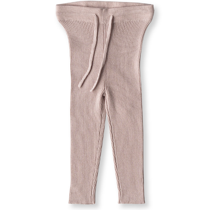 How divine are the Rose Ribbed Leggings from Grown Clothing? These leggings are knitted from an Oatmeal Marle yarn and have an elasticated waistband.