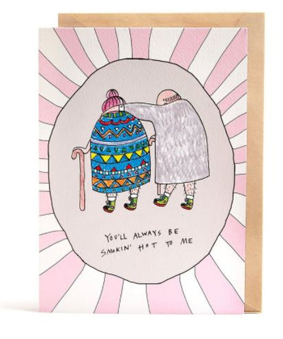 We love the Smokin Hot Card by Melbourne Illustrator Beck of Wally Paper Co.   One A6 card (when folded), blank inside