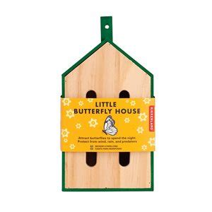 The Little Butterfly House is a cute, easy to hang habitat for all our beautiful butterfly buddies!