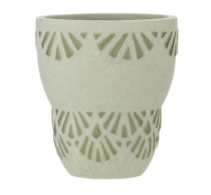 How lovely is the ceramic Sage Clary Planter Pot from Albi!