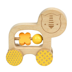 How adorable is the Lion Wooden Push Along Car from Petit Collage?!  These sturdy, solid beech wood push-alongs all have smooth wheels and simple easy-to-grasp animals to encourage active play, and help develop fine motor skills.
