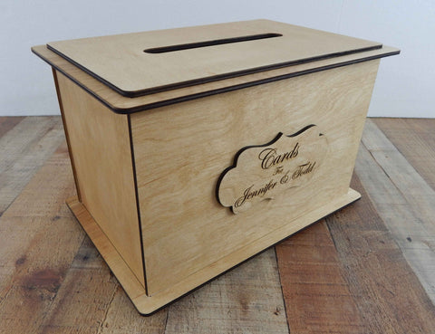 Card Boxes for wedding reception / Personalized Card Box  / Wedding Keepsake Box  /Wood Card Box / Wedding Card Box with Slot  /Card Box for Wedding