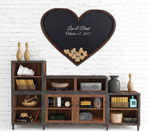 Heart Shaped Guest Book, Drop Box