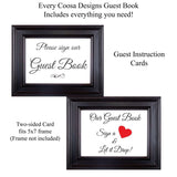 Florida Drop Box Guest Book Frame - Wedding Guest Book Frame