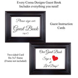 Custom Wedding Guest Book Framed Wedding Guestbook Monogram