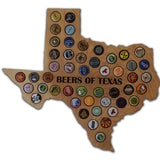 Christmas Gift Idea for him - Beer Cap Map - Any State or Country - Beer Loves Gift- Personalized - Texas Beer Cap - Georgia Beer Cap